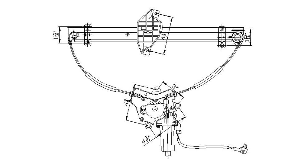 TYC - Power Window Motor And Regulator Assembly - TYC 660151