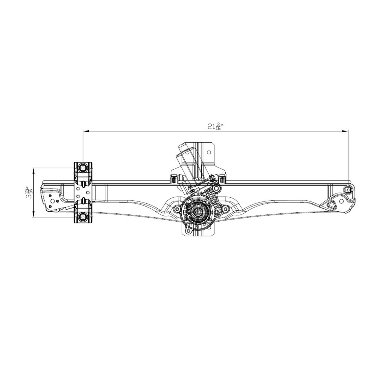 TYC - Power Window Motor And Regulator Assembly (Front Left) - TYC 660586