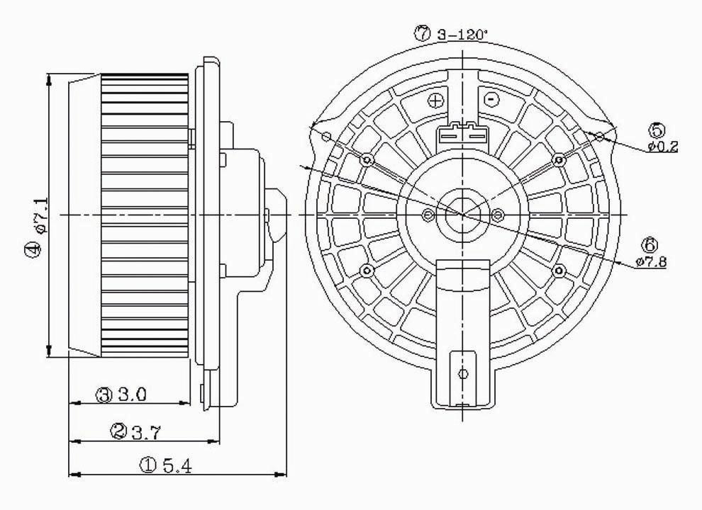 TYC - HVAC Blower Motor (Front) - TYC 700112