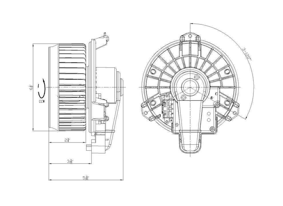 TYC - HVAC Blower Motor (Front) - TYC 700215