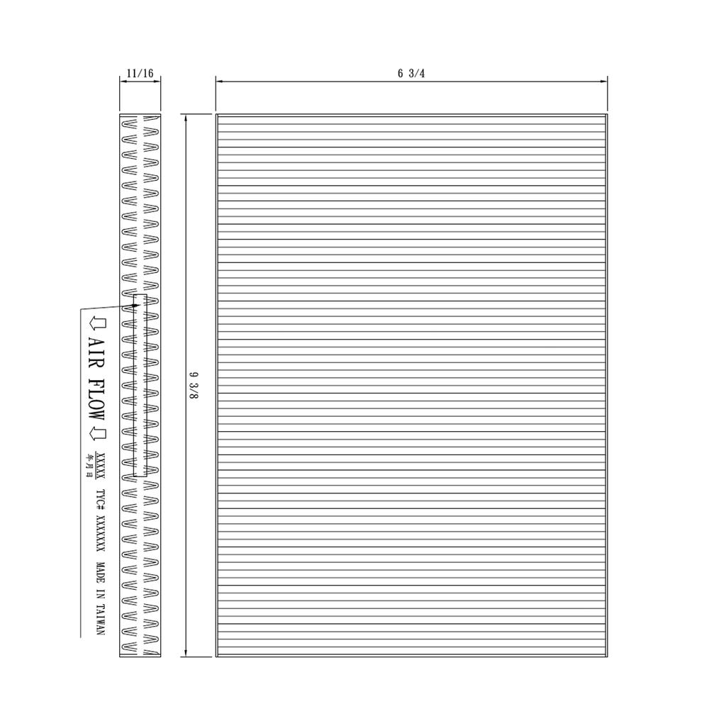 TYC - Cabin Air Filter - TYC 800178C