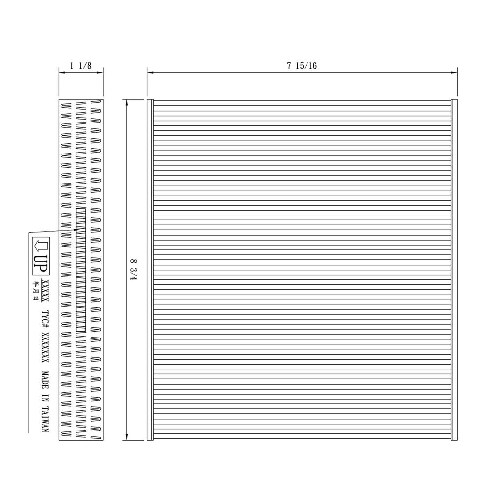 TYC - Cabin Air Filter - TYC 800179C