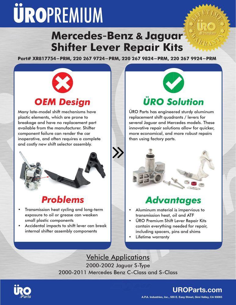 URO PARTS - Automatic Transmission Shifter Repair Kit - URO 2202679924PRM