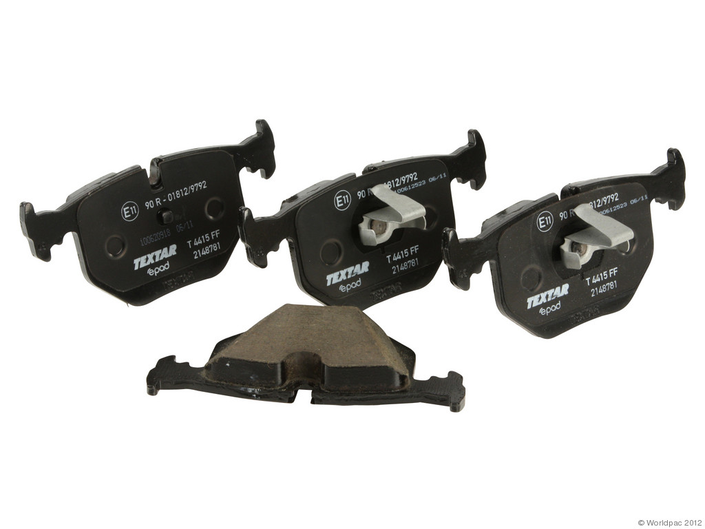 FBS - Textar ePad Epad Brake Pad Set With Shims (Rear) - B2C W0133-1608235-TXE