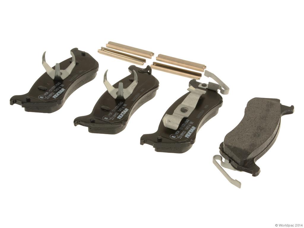 FBS - Textar OE Replacement Brake Pad Set w/ Shims (Rear) - B2C W0133-1611135-TEX