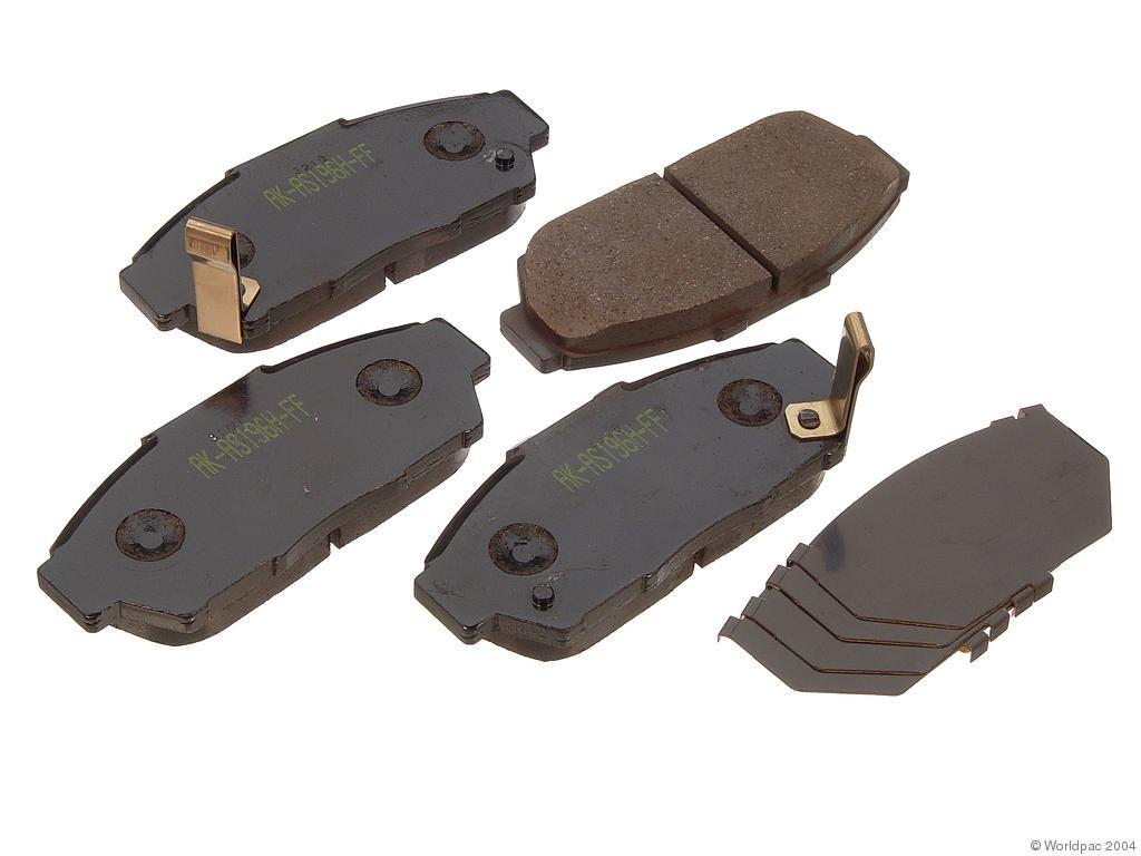 FBS - Akebono PRO-ACT Ultra-Premium Brake Pad Set Ceramic (Front) - B2C W0133-1616304-AKE