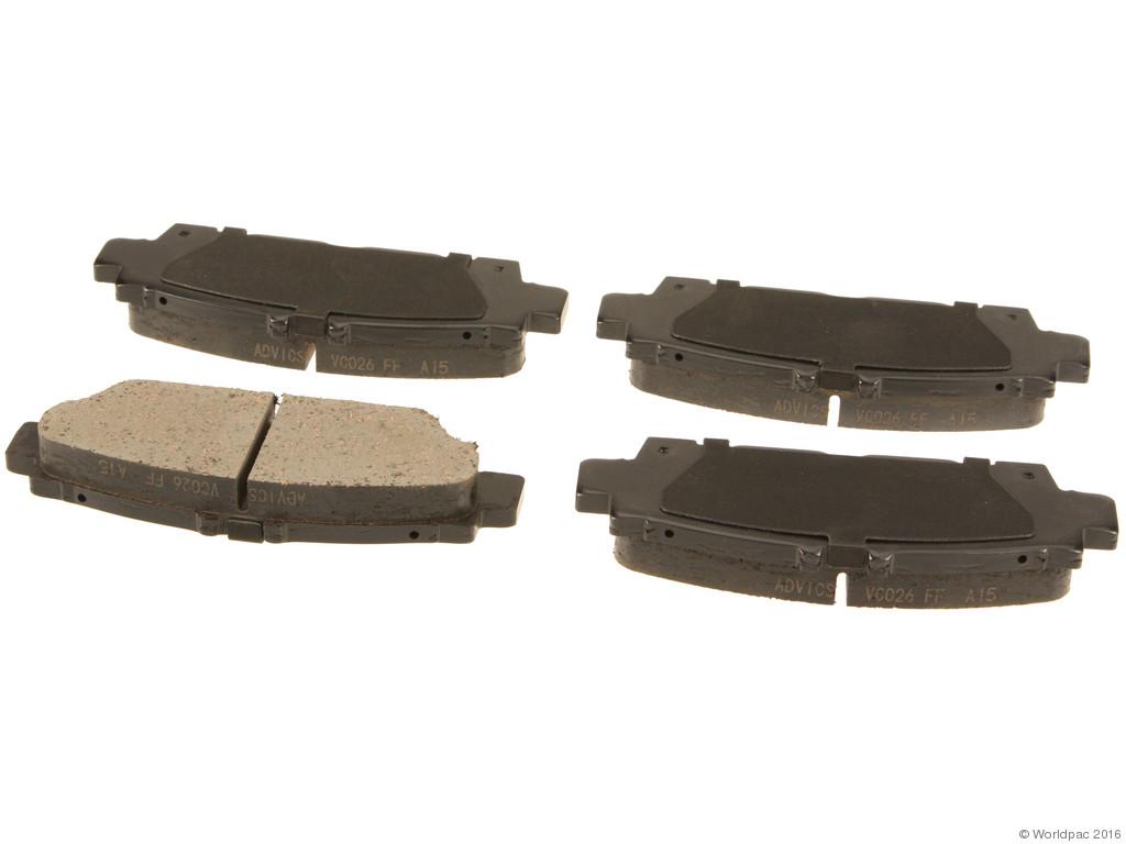 FBS - Advics Ceramic Brake Pad Set w/ Shims (Rear) - B2C W0133-1739484-ADV