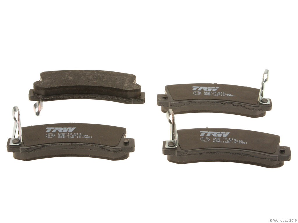 FBS - TRW OE Formulated Brake Pad Set w/o Shims (Rear) - B2C W0133-1740981-TRW