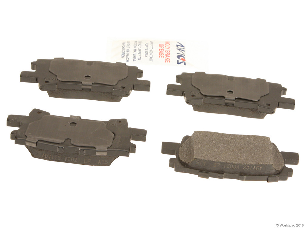 FBS - Advics Ceramic Brake Pad Set w/ Shims (Rear) - B2C W0133-1742846-ADV