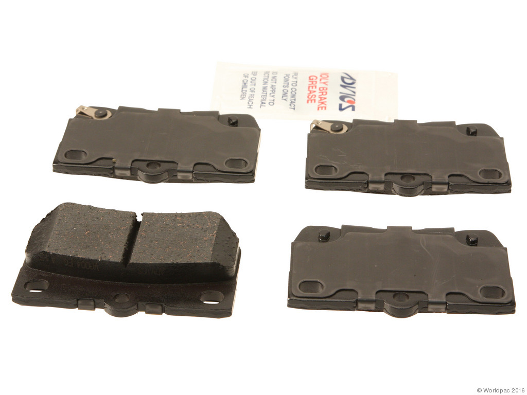 FBS - Advics Ceramic Brake Pad Set w/ Shims (Rear) - B2C W0133-1777426-ADV