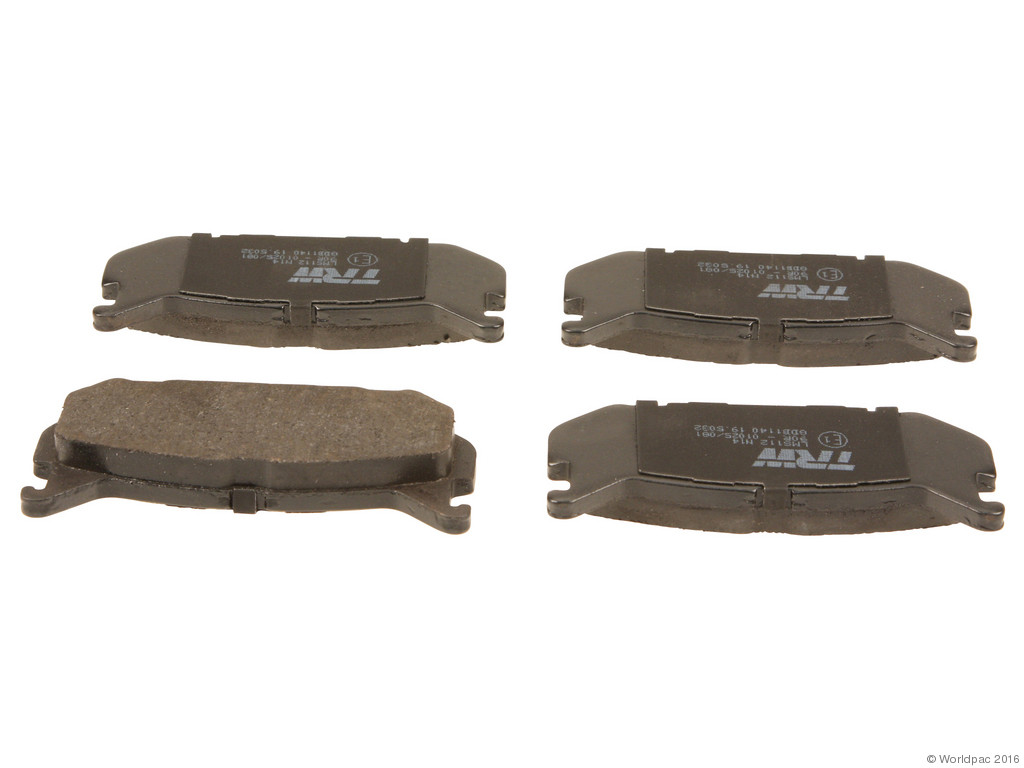 FBS - TRW Premium OE Formulated Brake Pad Set w/Shims (Rear) - B2C W0133-1832295-TRW