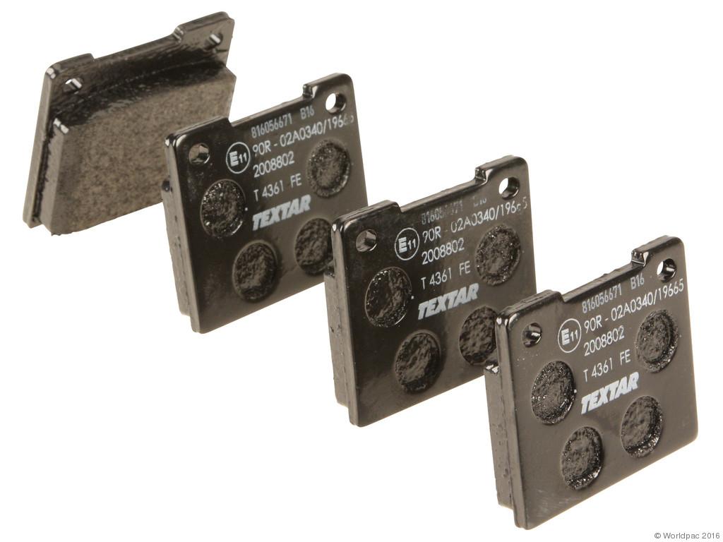 Textar -  OE Replacement Brake Pad Set w/ Shims (Rear) - B2C W0133-1834176-TEX