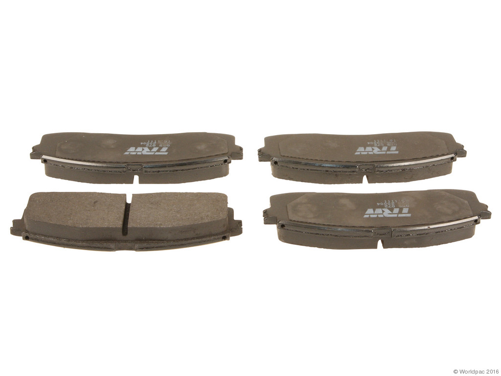 FBS - TRW OE Formulated Brake Pad Set w/o Shims (Rear) - B2C W0133-1834235-TRW