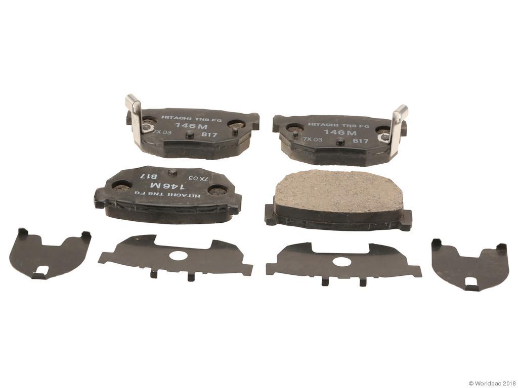FBS - Hitachi OE Replacement Brake Pad Set w/o Shims (Rear) - B2C W0133-1837224-HIT