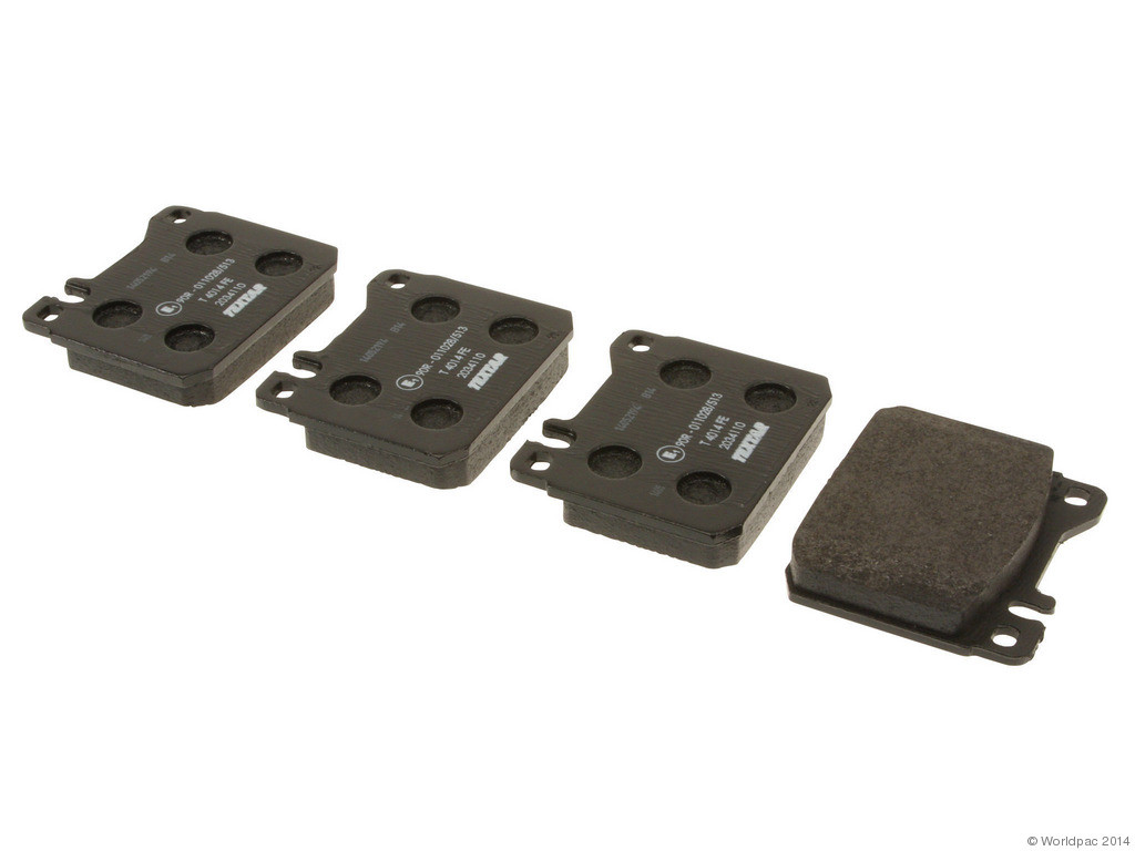 FBS - Textar OE Replacement Brake Pad Set w/ Shims (Front) - B2C W0133-1843175-TEX