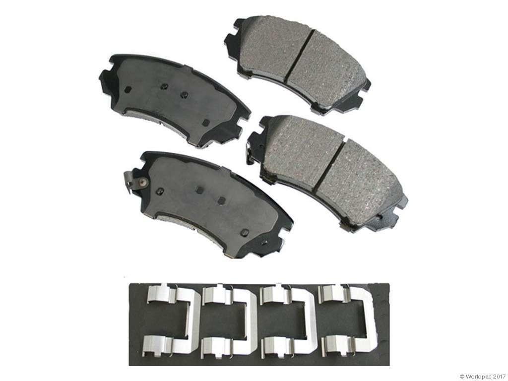 FBS - Akebono PRO-ACT Ultra-Premium OE Brake Pad Set Ceramic (Front) - B2C W0133-1936199-AKE