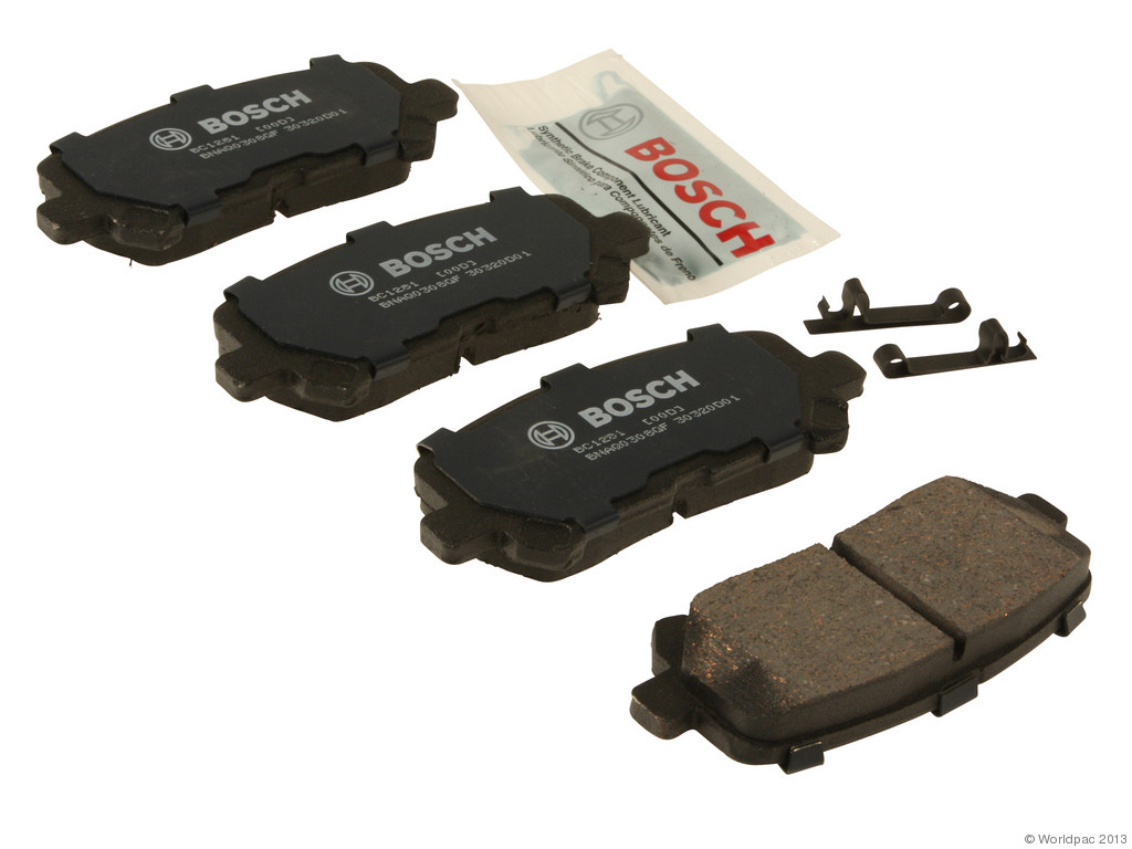 FBS - Bosch Quiet Cast Ceramic w/Hardware Brake Pad Set and Shims (Rear) - B2C W0133-1956968-BOS