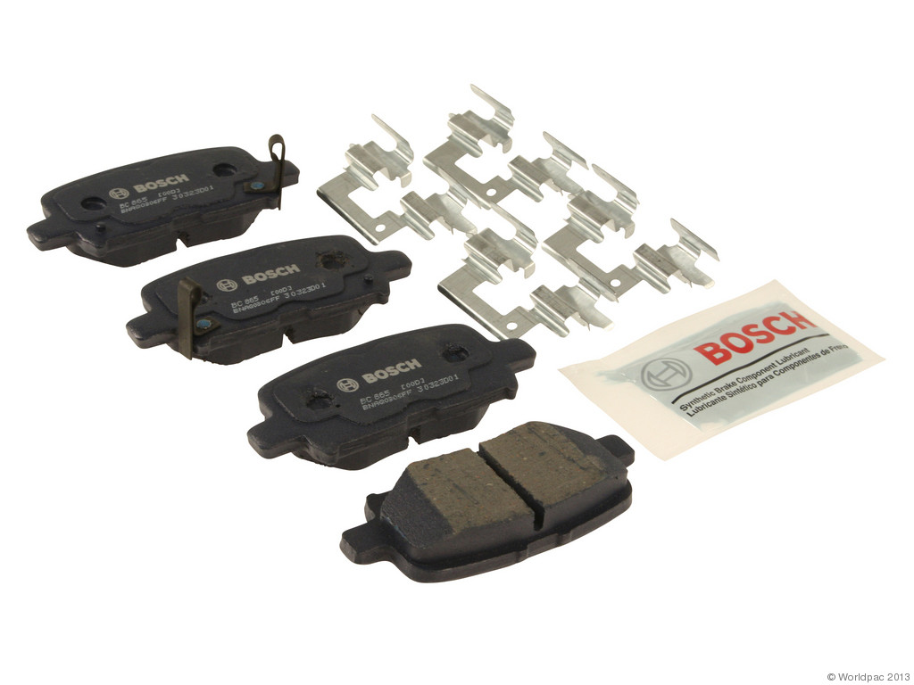 FBS - Bosch Quiet Cast Ceramic w/Hardware Brake Pad Set and Shims (Rear) - B2C W0133-1957687-BOS