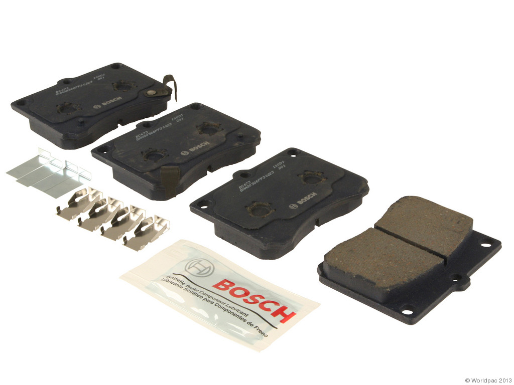 FBS - Bosch Quiet Cast Ceramic w/Hardware Brake Pad Set and Shims (Front) - B2C W0133-1957690-BOS