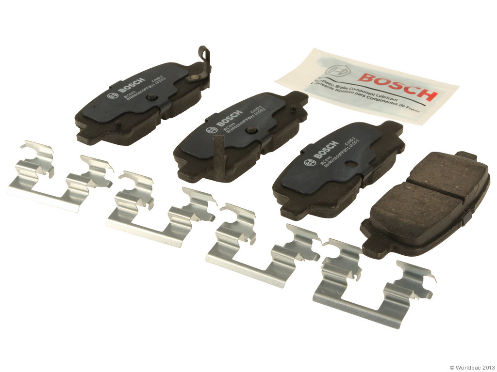FBS - Bosch QuietCast Ceramic Brake Pad Set With Shims MST (Rear) - B2C W0133-1957946-BOS