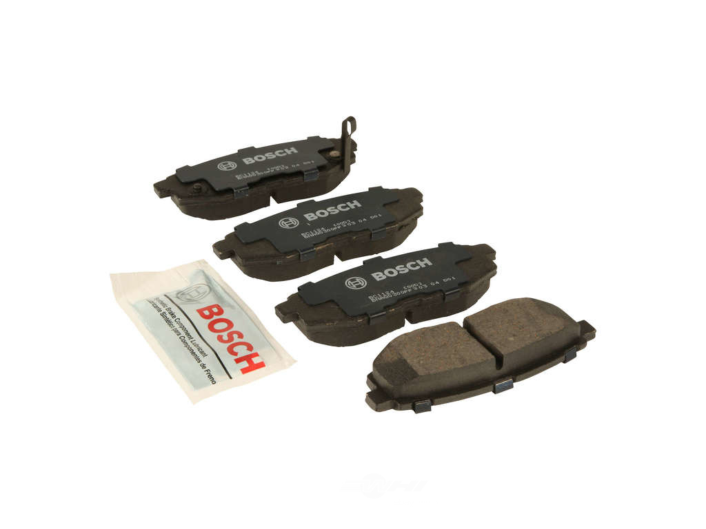 FBS - Bosch QuietCast Ceramic Brake Pad Set w/ Shims (Rear) - B2C W0133-1957957-BOS