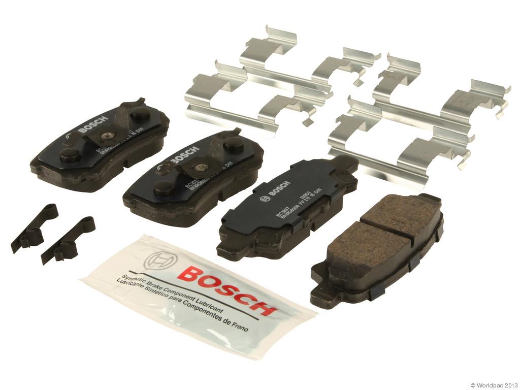 FBS - Bosch Quiet Cast Ceramic w/Hardware Brake Pad Set and Shims (Rear) - B2C W0133-1957973-BOS
