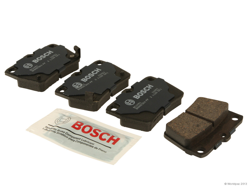 FBS - Bosch QuietCast Ceramic Brake Pad Set With Shims MST (Rear) - B2C W0133-1958444-BOS