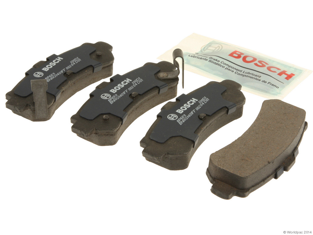 FBS - Bosch QuietCast Premium Brake Pad Set With Shims MST (Rear) - B2C W0133-1958521-BOS
