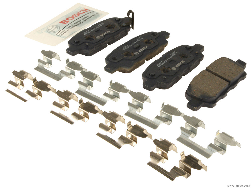 FBS - Bosch QuietCast Ceramic Brake Pad Set With Shims MST (Rear) - B2C W0133-1958593-BOS