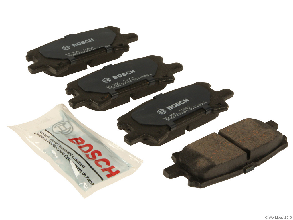FBS - Bosch QuietCast Ceramic Brake Pad Set With Shims MST (Rear) - B2C W0133-1958689-BOS
