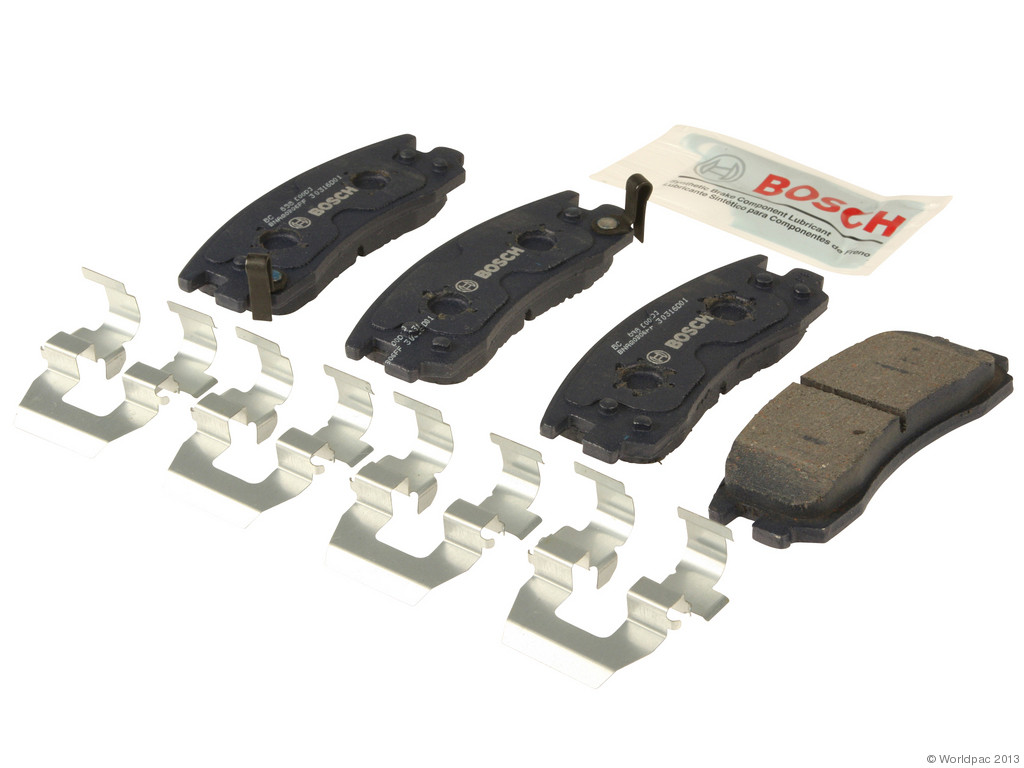FBS - Bosch QuietCast Ceramic Brake Pad Set w/ Shims (Rear) - B2C W0133-1958693-BOS