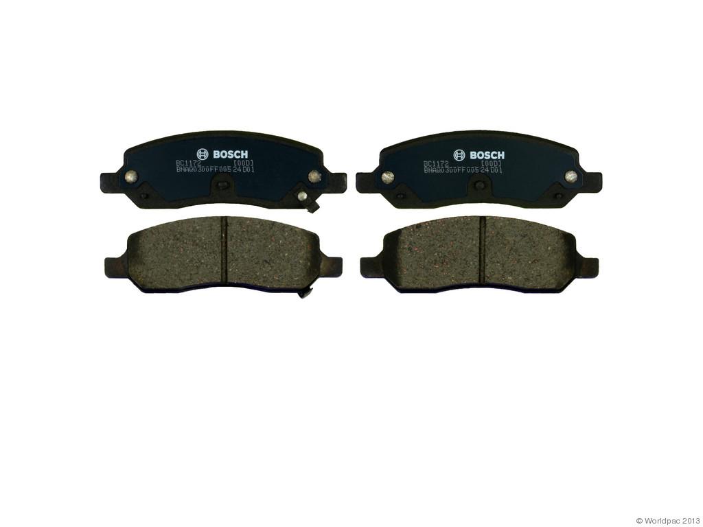 Bosch -  Quiet Cast Ceramic w/Hardware Brake Pad Set and Shims (Rear) - B2C W0133-1958895-BOS
