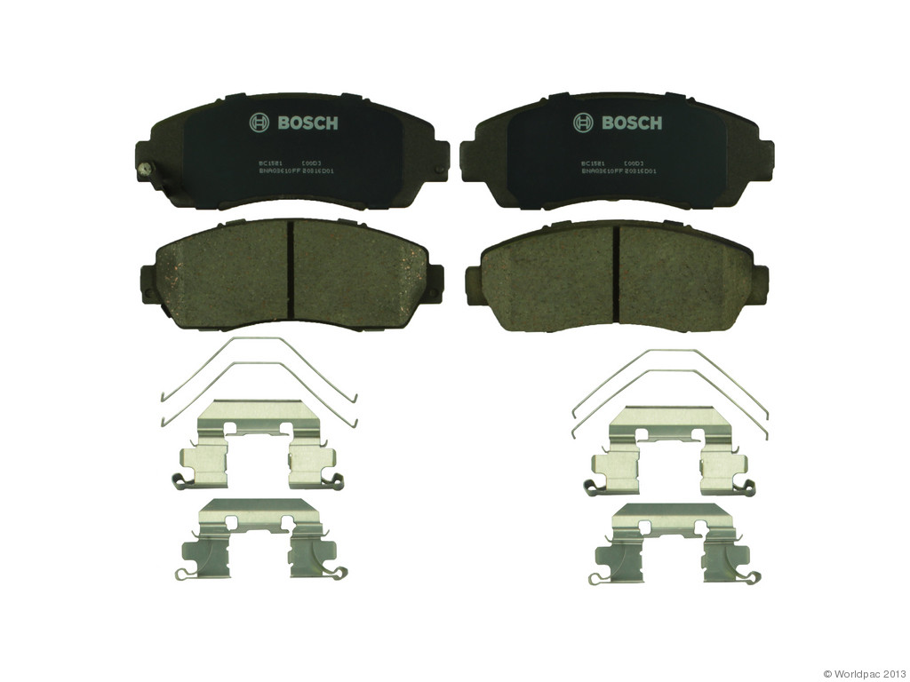FBS - Bosch QuietCast Ceramic Brake Pad Set With Shims MST (Front) - B2C W0133-1958958-BOS