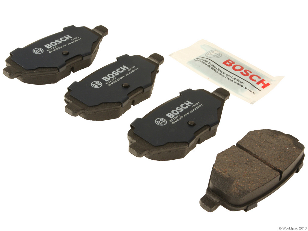 FBS - Bosch Quiet Cast Ceramic w/Hardware Brake Pad Set and Shims (Rear) - B2C W0133-1959016-BOS