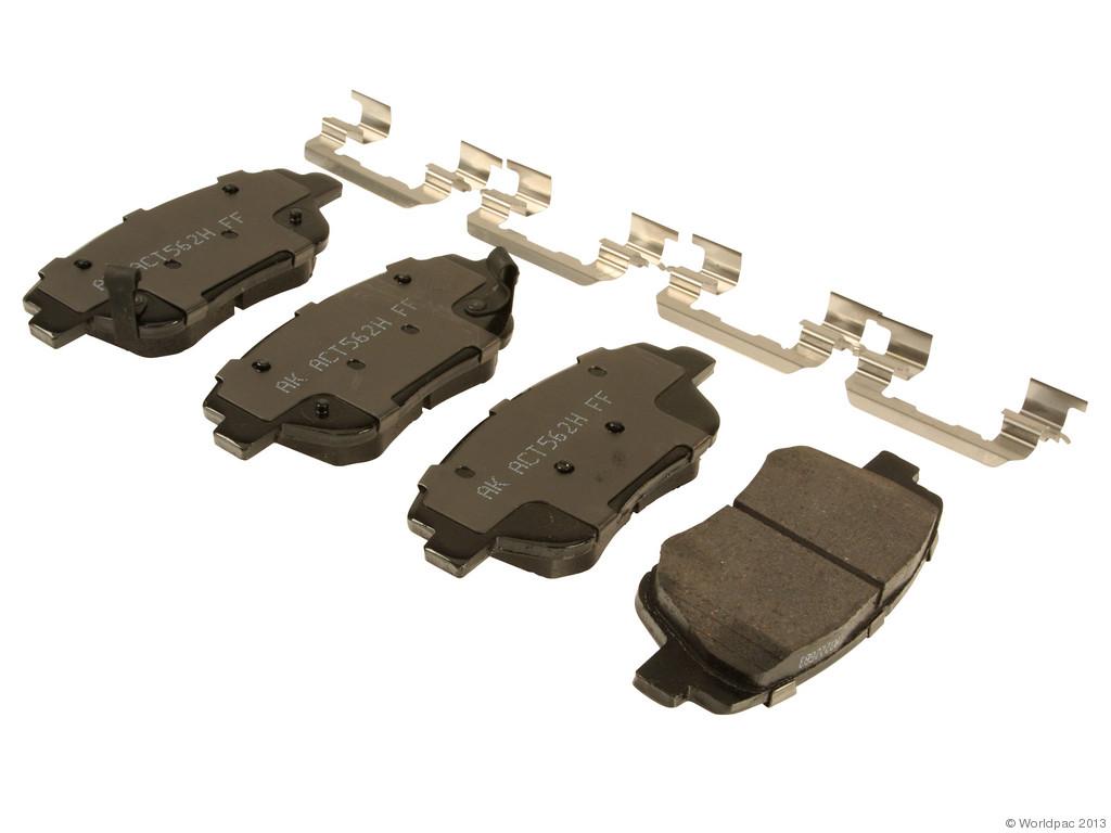 FBS - Akebono PRO-ACT Ultra-Premium Brake Pad Set Ceramic (Front) - B2C W0133-1961575-AKE