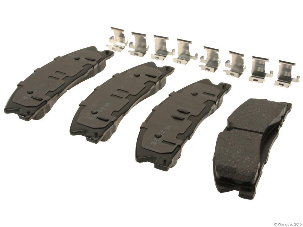 FBS - Akebono PRO-ACT Ultra-Premium Brake Pad Set Ceramic (Front) - B2C W0133-1962850-AKE