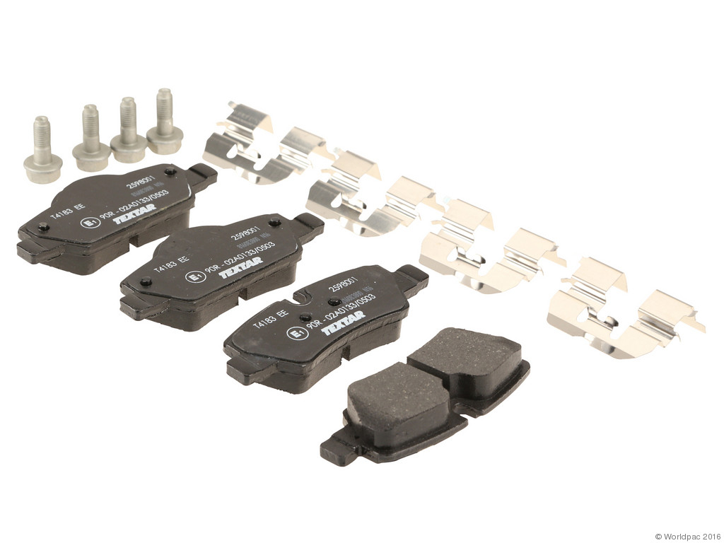 FBS - Textar OE Replacement Brake Pad Set w/Shims (Rear) - B2C W0133-2034799-TEX