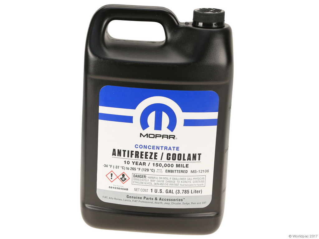 Fbs Engine Coolant And Antifreeze Part Number W0133 2042676 Mpr Renault Mopar Concentrate 1 Gallon Oat