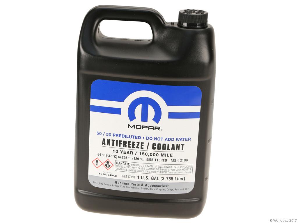 FBS - Mopar 50/50 Mix - 1 Gallon Coolant/Antifreeze OAT - B2C W0133-2042677-MPR