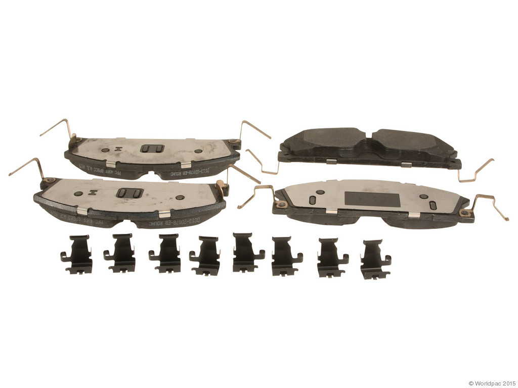 FBS - Motorcraft OE Formulated Brake Pad Set With Shims (Front) - B2C W0133-2043656-MTR