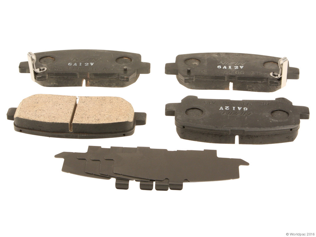 FBS - Nissin Premium Brake Pad Set With Shims (Rear) - B2C W0133-2049686-NIS