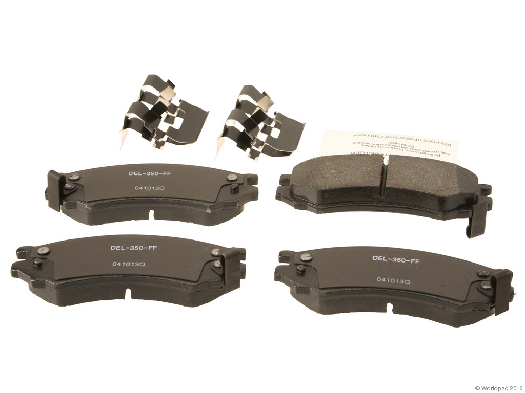FBS - ACDelco Professional Ceramic Brake Pad Set DuraStop - w/ Hardware (Front) - B2C W0133-2057171-ACD
