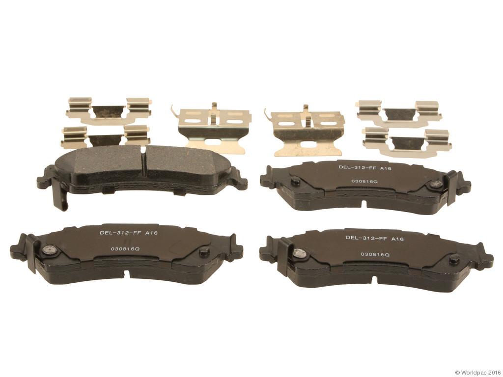 FBS - ACDelco Professional Ceramic Brake Pad Set DuraStop - w/ Hardware (Rear) - B2C W0133-2057834-ACD