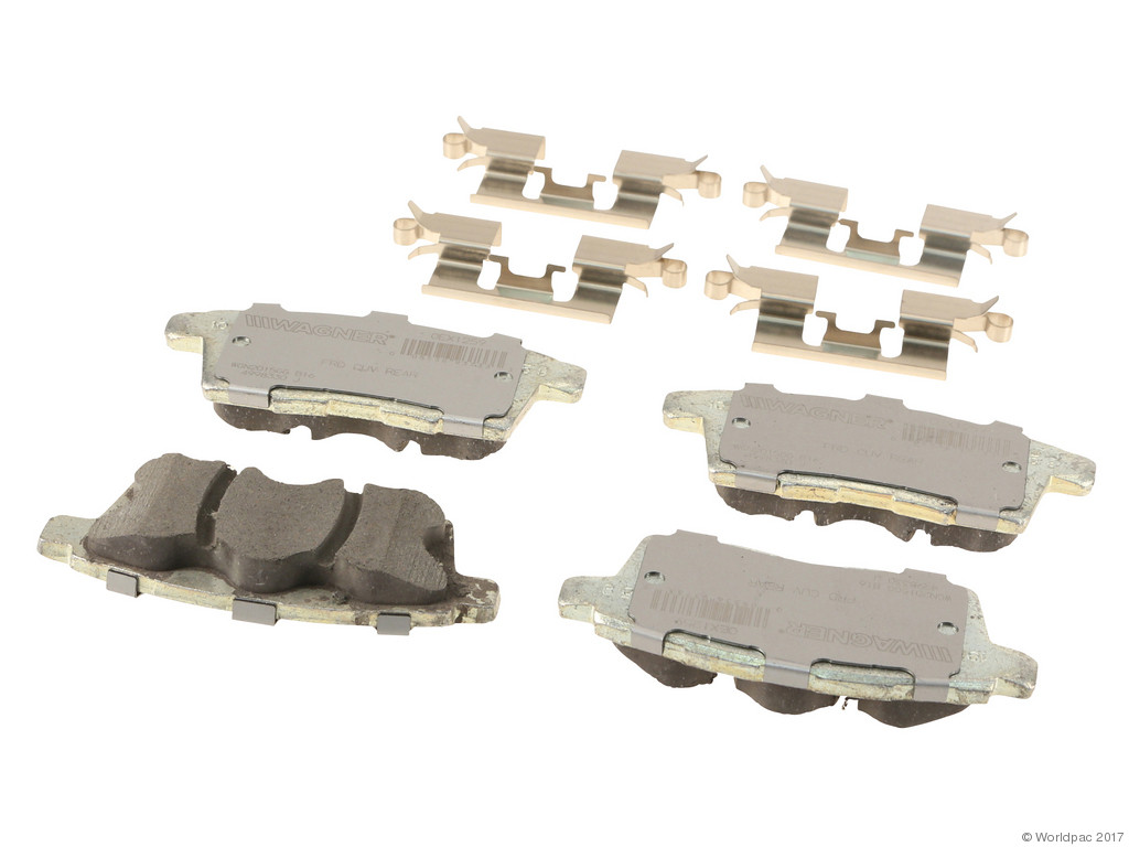 FBS - Wagner Brake OEX Ceramic Brake Pad Set w/Hardware Kit (Rear) - B2C W0133-2268536-WAG