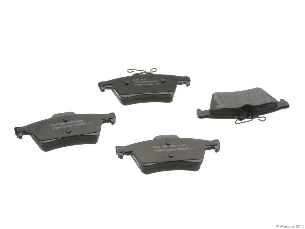FBS - Pagid OE Replacement Brake Pad Set w/ Shims (Rear) - B2C W0133-2272497-PAG