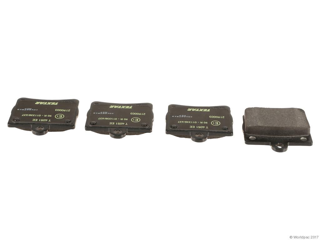 FBS - Textar OE Replacement Brake Pad Set w/ Shims (Rear) - B2C W0133-2284296-TEX
