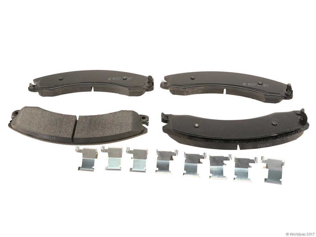 Akebono -  PRO-ACT Ultra-Premium Brake Pad Set Ceramic (Rear) - B2C W0133-2547665-AKE
