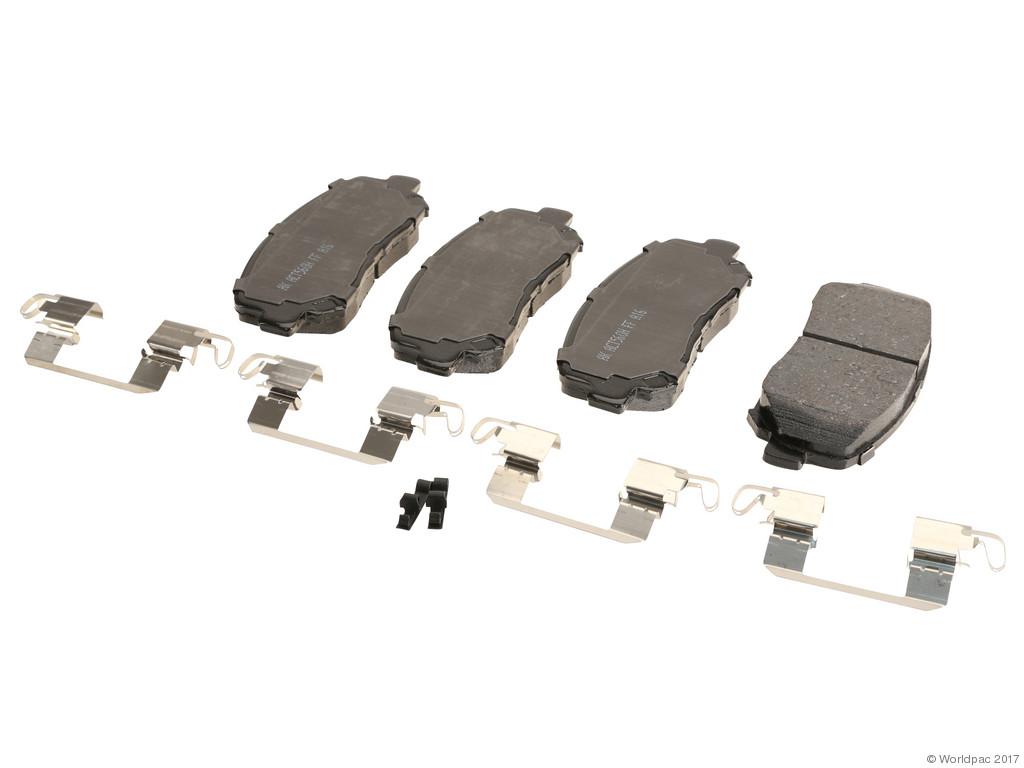 Akebono -  PRO-ACT Ultra-Premium OE Brake Pad Set Ceramic (Front) - B2C W0133-2548782-AKE