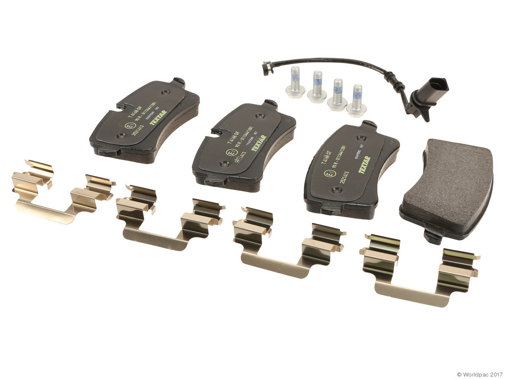 FBS - Textar OE Replacement Brake Pad Set w/ Shims (Rear) - B2C W0133-2579208-TEX