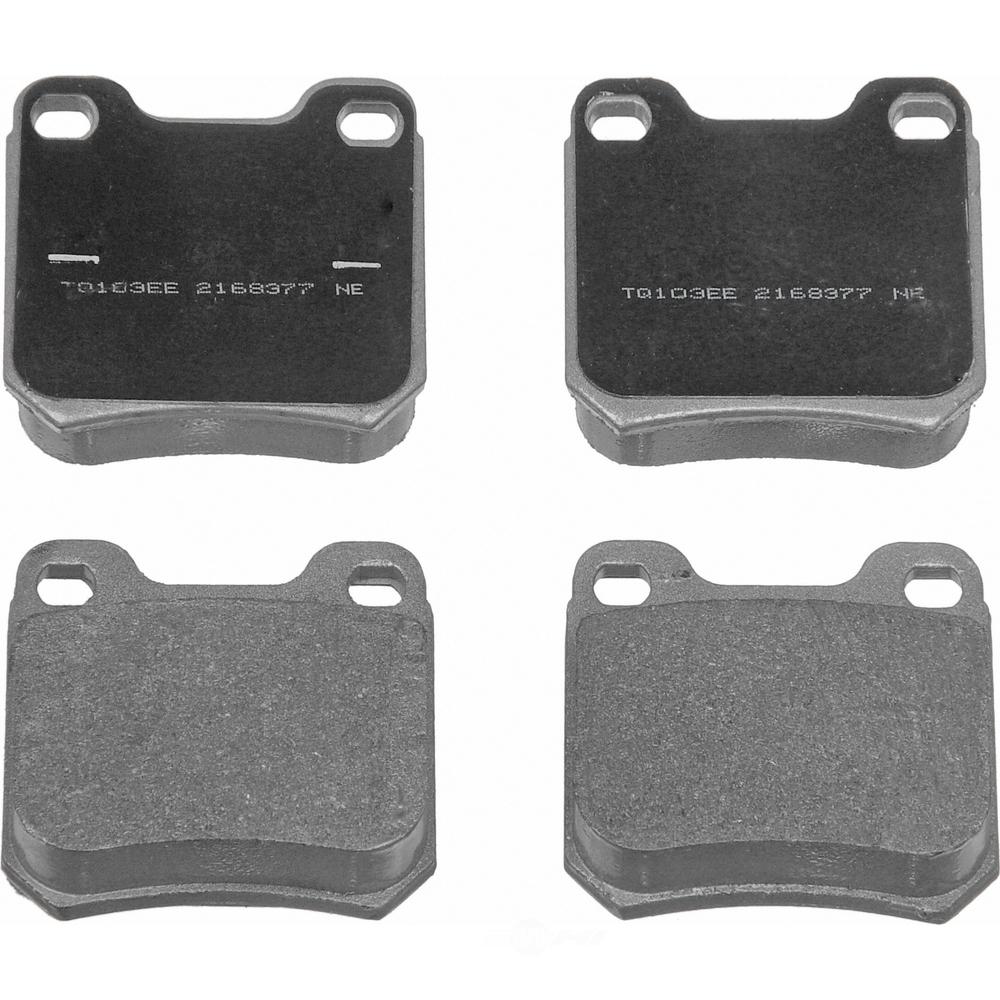 WAGNER BRAKE - ThermoQuiet Disc Brake Pad (Rear) - WGC MX709